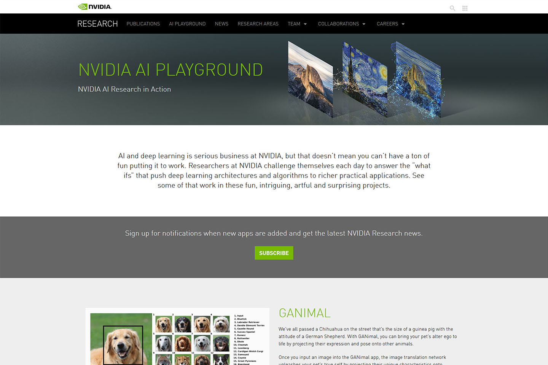 2019-nvidia-ai-playground